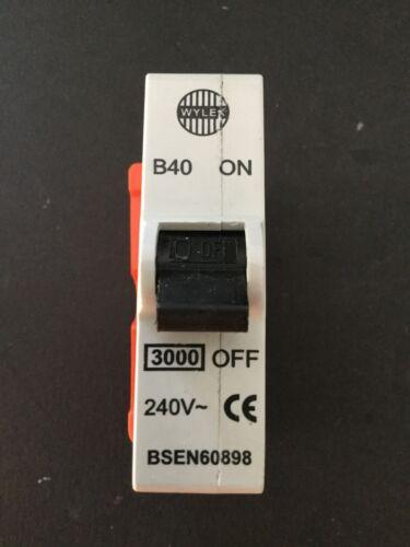 Wylex B40 40 A Branchez BCP-Brand New /& Sealed