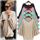 Women Knitted Batwing Blouse Ladies Loose Sweater Cardigans Jumper Tops Dress