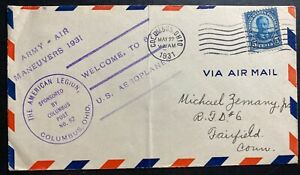 1931-Columbus-OH-USA-First-Day-cover-FDC-Welcome-To-672-US-Aeroplanea-Maneuvers