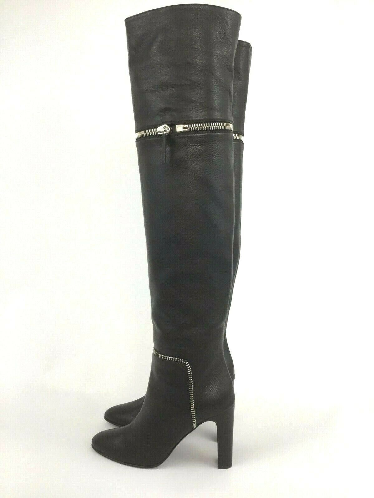 Giuseppe Zanotti Bimba Black Leather Over The Knee Boot 38 38 38 8 02b2ed
