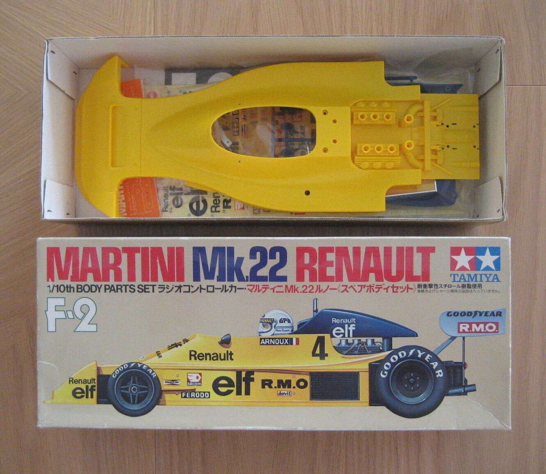 RC Tamiya Renault Mk.22 Martini parte del cuerpo cuerpo cuerpo Set SP1095, 58014, 1979 Nuevo En Caja  sin mínimo