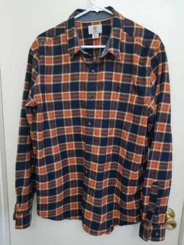 Timberland 100 Zacht flanellen katoen maat Heren overhemd Xl a8wrxqaYT