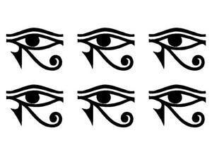 Details about Small EYE OF RA HORUS Egyptian God Quote Vinyl Decal Phone  sticker set of 6