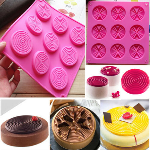 Spiral Cake Jelly Cookies Soap Mold Chocolate Baking Wax Mould Tray Ice Cube DIY