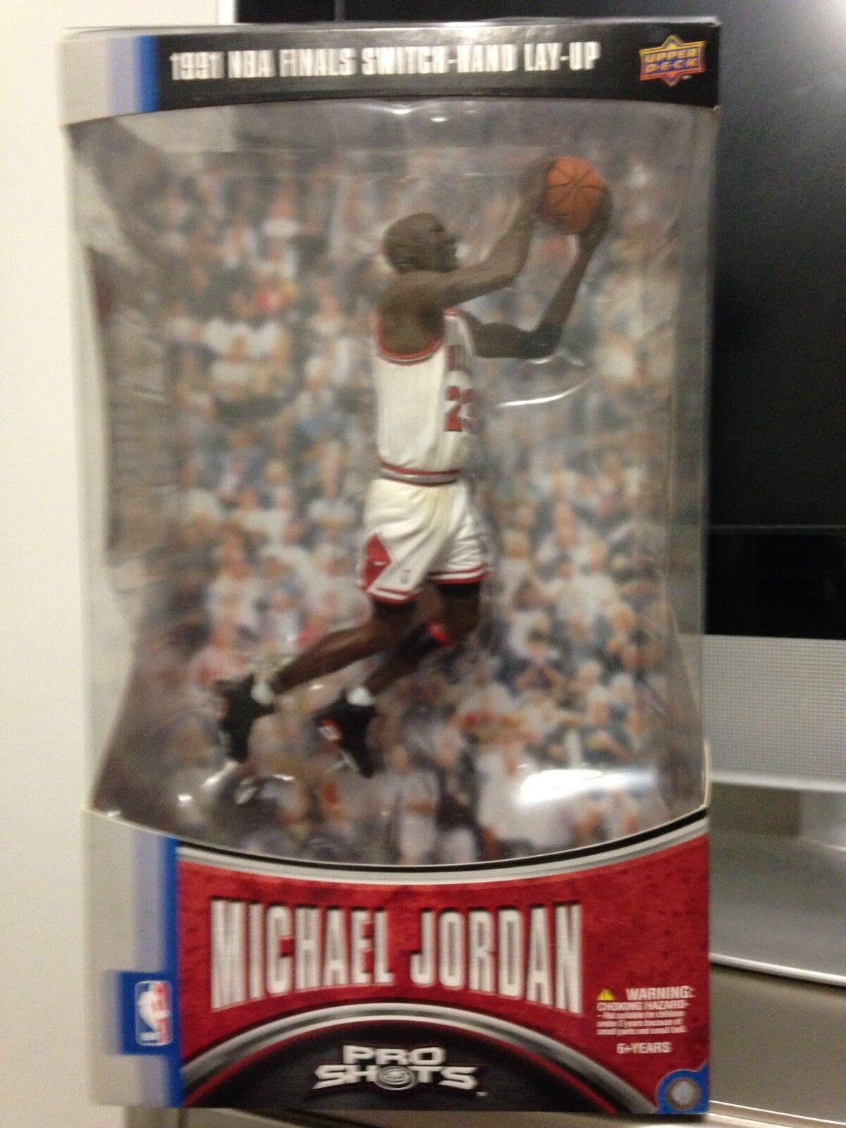 NIB M. Jordan UD Pro Shots Action Figure 1991 NBA FINALS SWITCH HAND Series 1