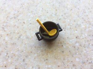 Lego New Black Cauldron,sauce Pot,silver Frying Pans X6 Kitchen Cooking Utensil