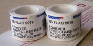 2 COIL ROLLS OF FOREVER STAMPS-FIRST-C