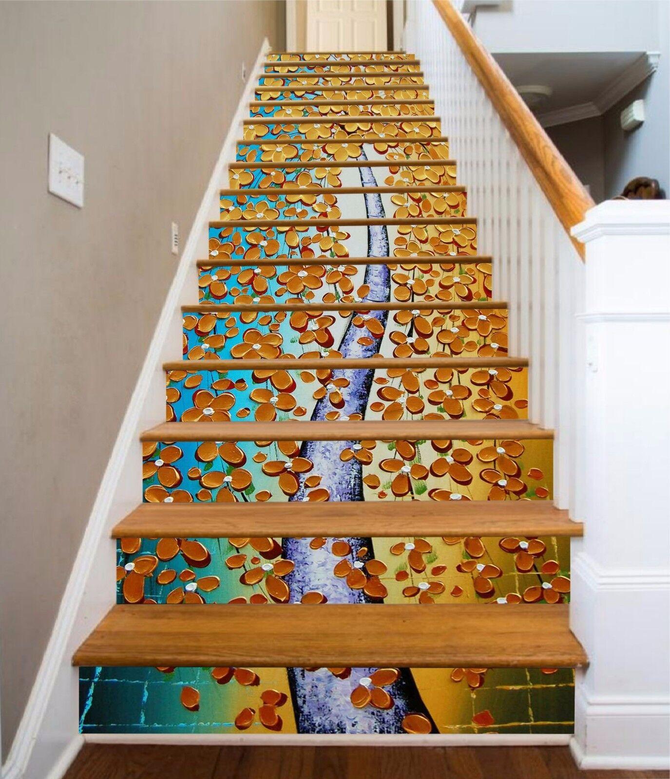 3D Flower Vine 68 Stair Risers Decoration Photo Mural Vinyl Decal Wallpaper UK
