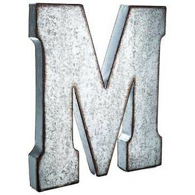 """Large 20/"""" Silver Galvanized Vintage Metal Letter /& Marquee /""""L/"""" A TO Y Available."""
