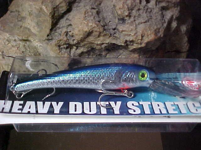 "BIGFISH Gamefish Troll Lure T25-77 in  /""CHROME BLUE/"" Mann/'s Textured Stretch 25"