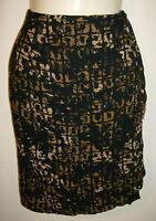 Carole Little Petities 100% Rayon Skirt Size 10 Faux Wrap Elastic Waist