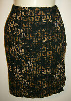 Carole Little Petities 100% Rayon Skirt Size 10 Faux Wrap Elastic Waist