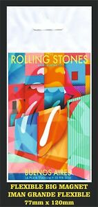 ROLLING-STONES-AMERICA-LATINA-OLE-BUENOS-AIRES-FLEXIBLE-BIG-MAGNET-IMAN-GRANDE