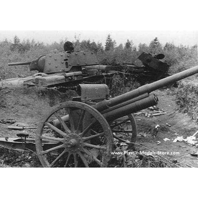 1//72 Scale model kit ACE 72252 76.2mm Soviet gun model 1902//1930 with limber