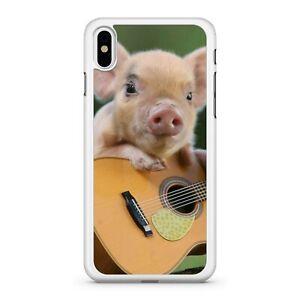 san francisco 2d1d8 b837d Details about Mini Cuddly Cute Adorable Guinea Pig Animal Playing Guitar 2D  Phone Case Cover