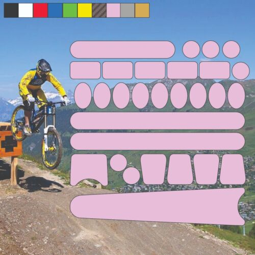 Chainstay and Frame Bicycle Protectors Kit Bike Cycle Decals Stickers 5