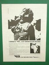 5/1966 PUB COMPAGNIE AERIENNE RESEAU UTA AIRLINE AFRIQUE ORIGINAL FRENCH ADVERT