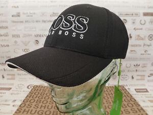 4091f8e4450 HUGO BOSS Green Baseball Cap Men s PIQUE US Sports Hat Logo Black ...