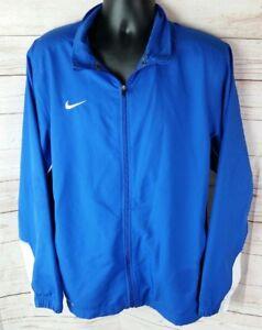 Dettagli su Nike Uomo Core 2.0 Squadra Giacca in Tessuto Blu Dri Fit Grande L Swoosh