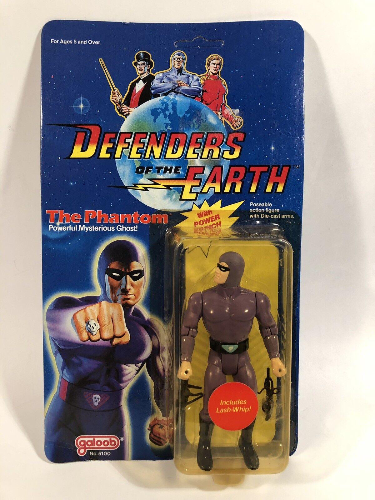 1985 Vintage Galoob los defensores de la Tierra el fantasma 5  figura ENLOMADOR Raro