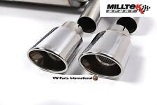 AUDI TT mk3 TTS 2.0 TFSI QUATTRO MILLTEK 4x Lucidato Ovale Tip Tail Pipe Trim Solo