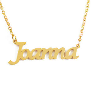 71ded0f3ba11f Details about JOANNA Name Necklace Personalised Custom - 18ct Gold Plated  Christmas Silver