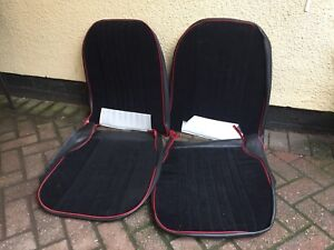 Mg-Midget-Seat-Covers-Black-Red-Velour-Faced