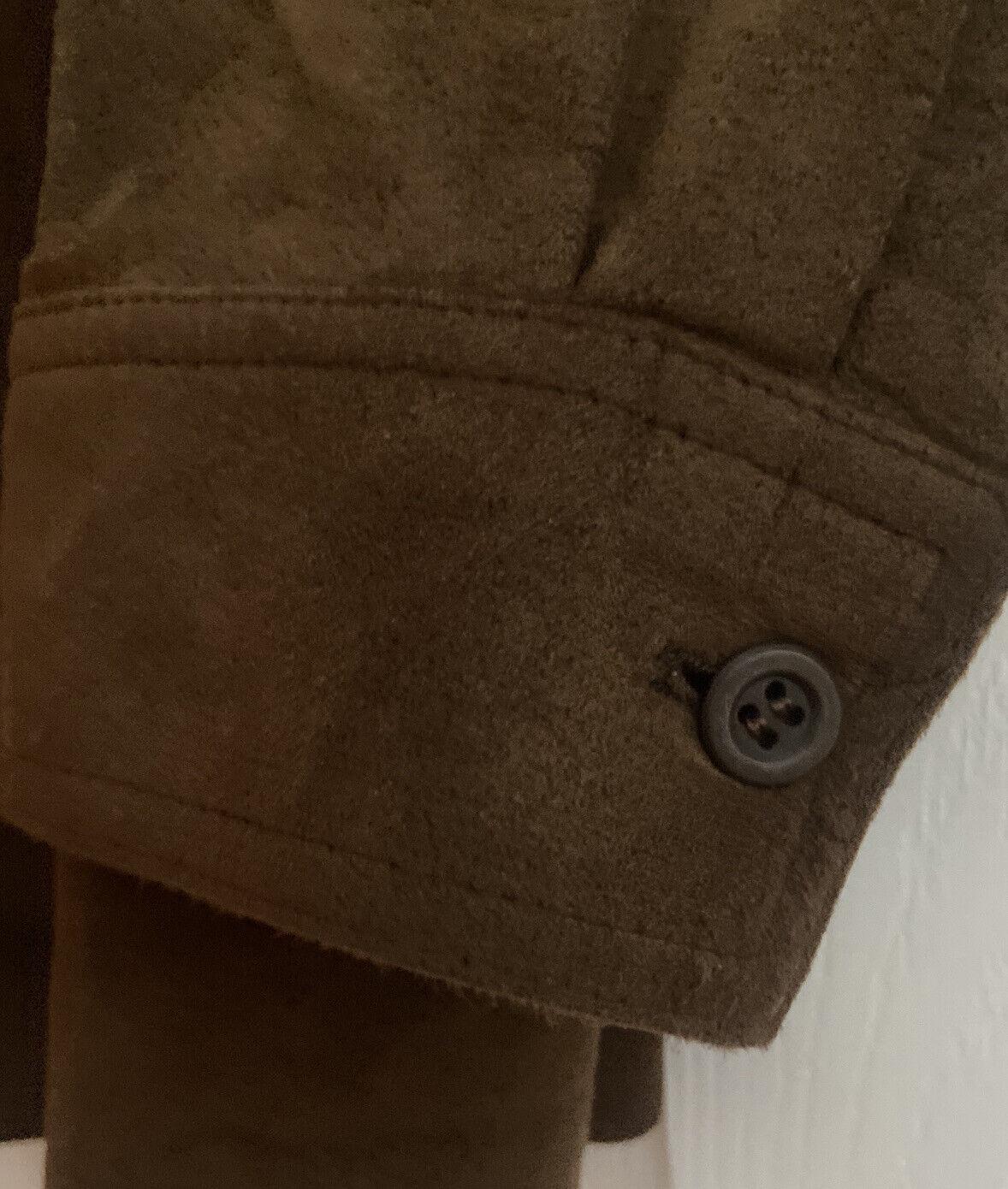vintage Halston ultrasuede shirt jacket 40R brown… - image 3