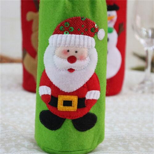 Xmas Wine Bottle Gift Bags Snowman Santa Claus Christmas Decoration Sequins LJ