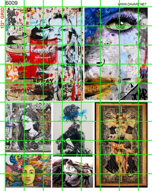 6008 DAVE/'S DECALS MODERN URBAN STREET ART AND GRAFFITI COLORFUL POP ART BANKSY