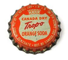 Vintage Canada Dry Tropo Orange Soda Bier Kronkorken USA Bottle Cap Korkdichtung