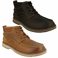 MAHALE MID MENS CLARKS NUBUCK LEATHER LACE UP G FIT CASUAL ANKLE CHUKKA BOOTS