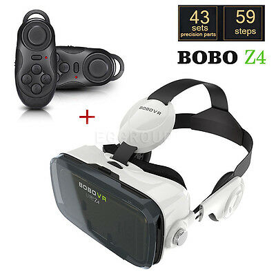 3D VR Virtual Reality VR Z4 Glasses Box Headphone For iPhone Samsung Cell Phone
