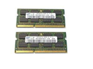 4GB-2x2GB-PC3-8500S-DDR3-1066-Laptop-Memory-RAM-Samsung-M471B5673EH1-R-449