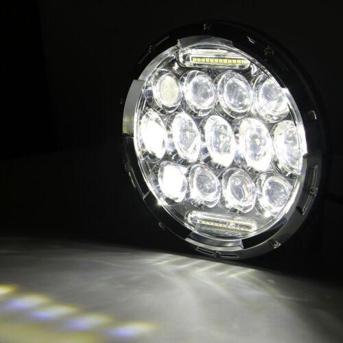 2x7/'/' Round Chrome Led Headlight DRL Hi//Lo Beam For Jeep Wrangler JK TJ CJ LJ H1