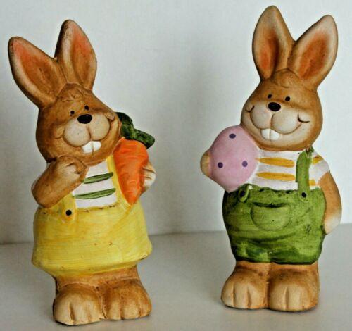 Osterhase Hase XXL mit Ei oder Karotte 15x8cm  Keramik Ostern Osterhasen NEU
