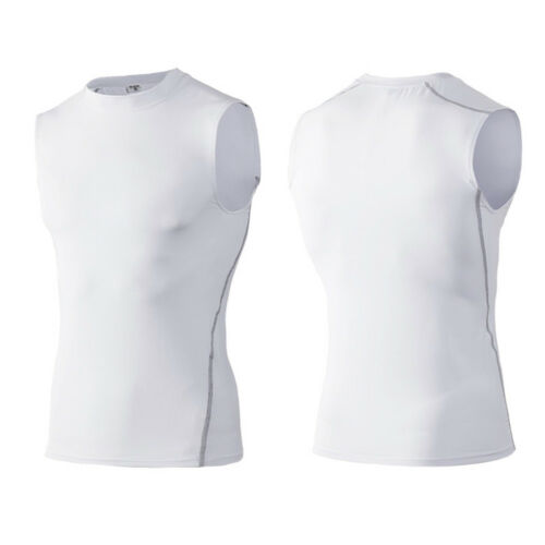 Men's Quick Dry Sleeveless T-Shirt Fitness Running Sports Tops Athletic Apparel