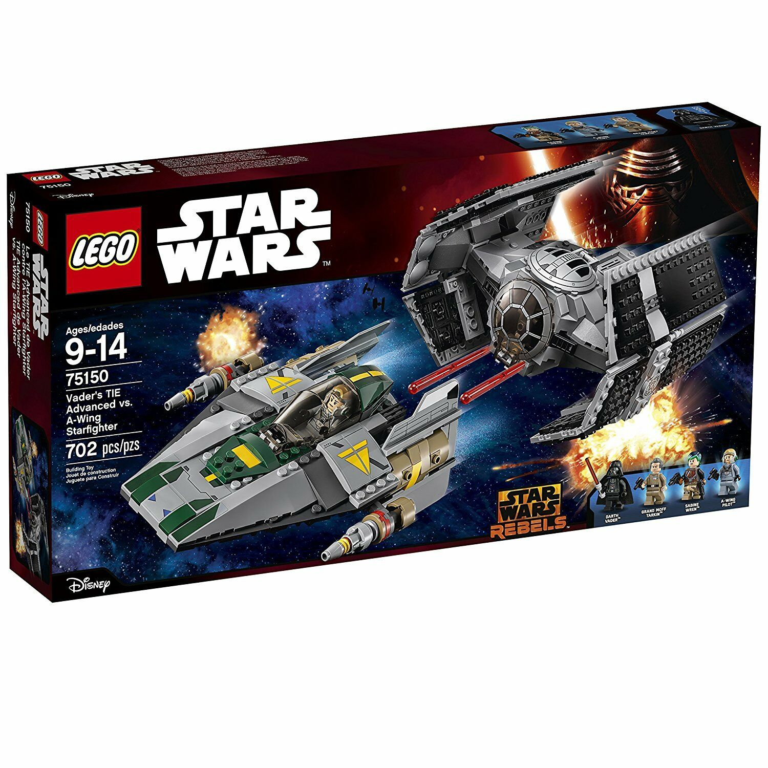 LEGO 75150 STAR WARS VADER'S TIE ADVANCED VS. A-WING STARFIGHTER STARFIGHTER STARFIGHTER d420f0