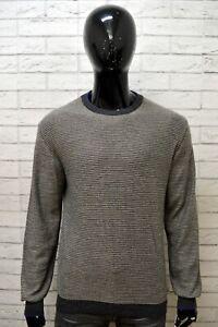Maglione-a-Righe-Uomo-MARLBORO-CLASSICS-XL-Pullover-Cardigan-Sweater-Man-Felpa