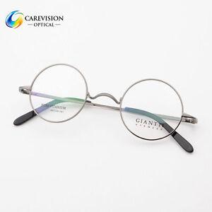 651753777fc Image is loading 44mm-Luxury-Titanium-Round-Vintage-Eyeglass-Frames-Optical-