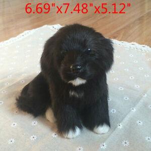 Realistico Black Dog Puppy Pet Peluche, simulazione Peluche Peluche bambola giocattolo