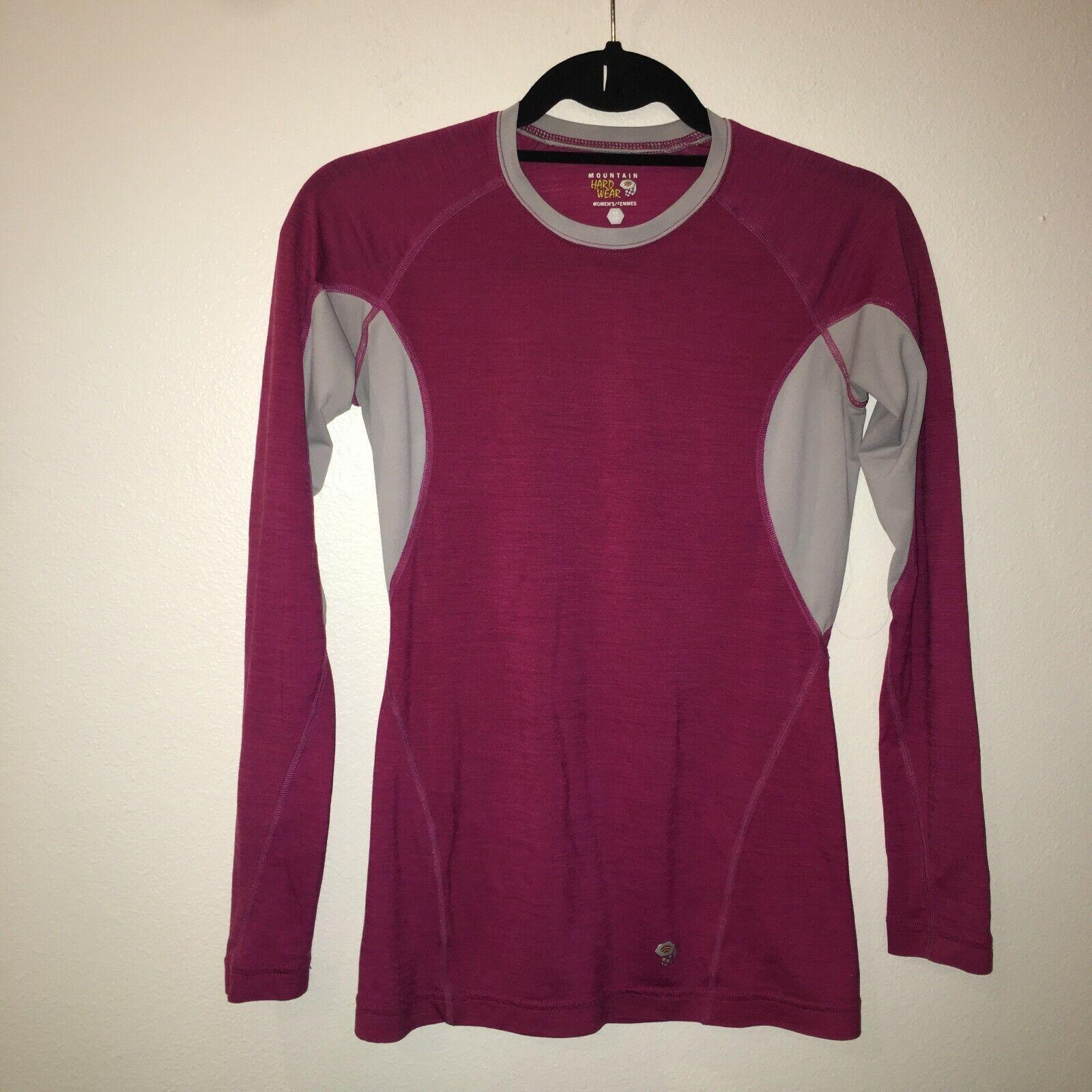 Merino women's mountain hardwear xs longsleeve lightweight shirt 21-1958