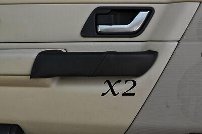 Black stitch fits Land Rover Range Rover Sport 05-11 2x poignée de porte avant couvre