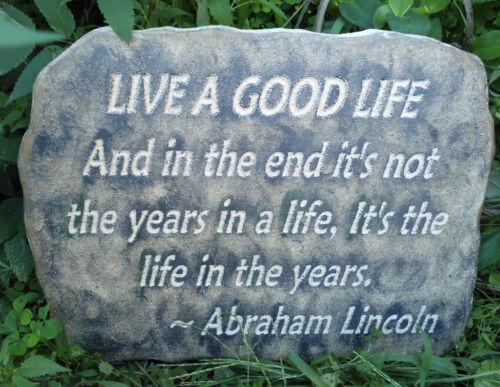 Live a good life plastic plaque mold plaster concrete mould