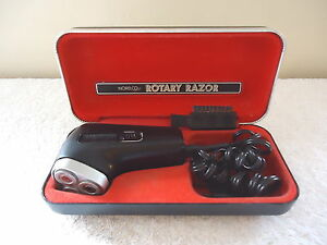 Vintage-Norelco-Rotary-Razor-In-Case-034-GREAT-COLLECTIBLE-ITEM-034