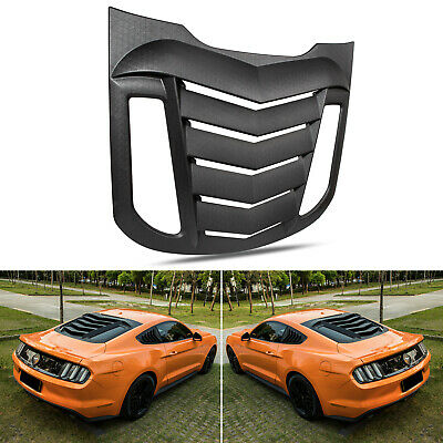 OCPTY Side Window Louver Windshield Sun Shade Cover Black Compatible With 2015 2016 2017 2018 for Ford Mustang