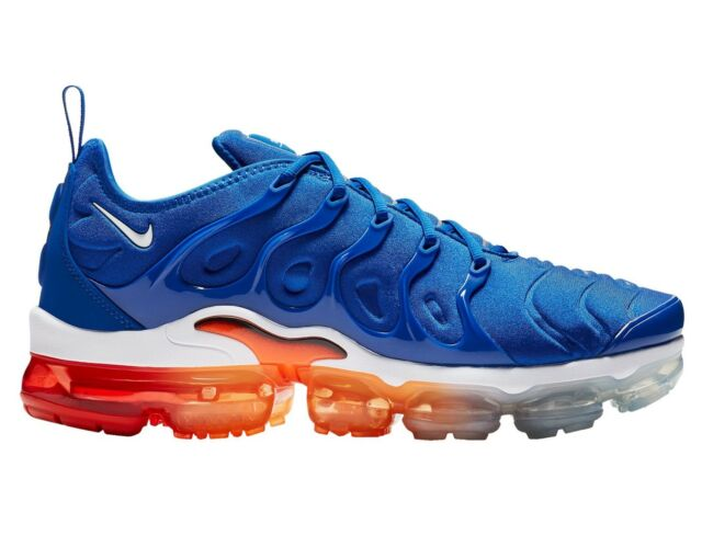 outlet store 66a75 e68db Nike Air Vapormax Plus Mens 924453-403 Game Royal Orange Running Shoes Size  9.5
