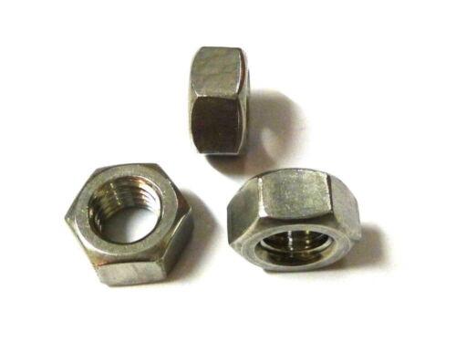 kleine Muttern aus Edelstahl V2A, DIN 934, M1 bis M6, Handwerkerqualität