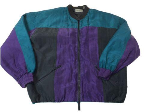 Vintage 1990s Robert Stock Soft Nylon Colorblock W