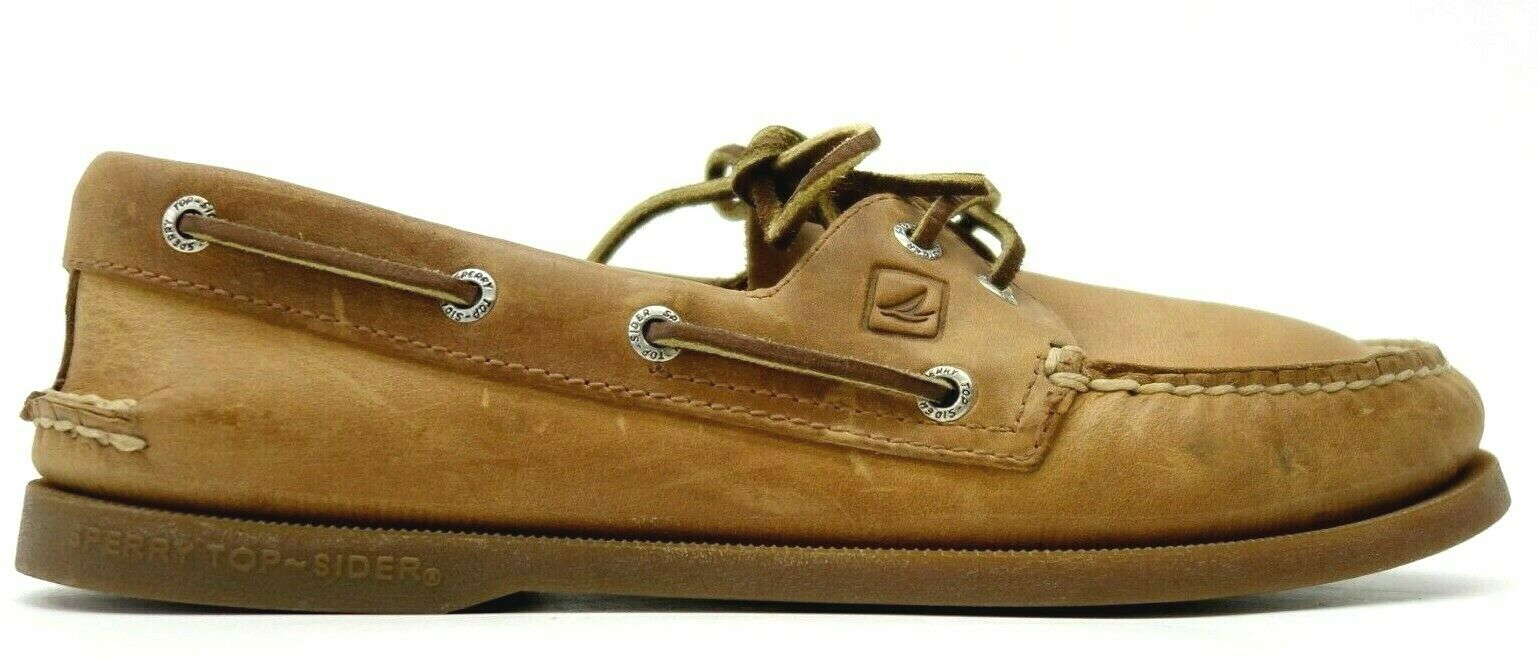 Sperry Mens US 8.5 EU 41.5 Authentic Original Sahara Leather Boat shoes Loafers